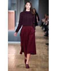 Tibi - Brown Corazon Jacquard High Waisted Culottes - Lyst