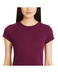 Polo Ralph Lauren | Purple Cotton Jersey Maxidress | Lyst