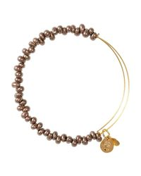 ALEX AND ANI | Metallic Caviar Expandable Wire Bangle | Lyst