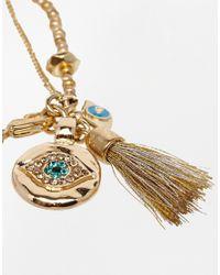 Rachel Roy - Metallic Bead Tassel Bracelet - Lyst