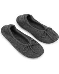Madeleine Thompson | Gray Cashmere Slippers - For Women | Lyst