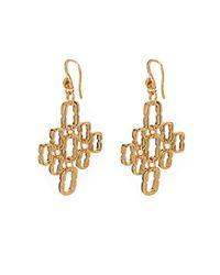 Diane von Furstenberg - Metallic Chainlink Cluster Gold-Plated Earrings - Lyst