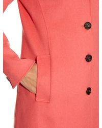 Weekend by Maxmara | Pink Double-faced Wool-blend Coat | Lyst