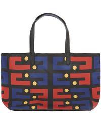 Yarnz - Black Pinball Leather Tote Bag - Lyst