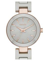 DKNY - Gray 'stanhope' Ceramic Bracelet Watch - Lyst