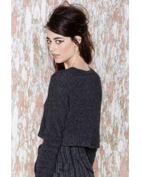Nasty Gal - Gray Vintage Annalisa Crop Cashmere Sweater - Lyst