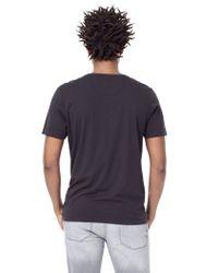 Mango - Black V-neck Cotton T-shirt for Men - Lyst