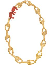 Virzi+de Luca | Metallic Gold-Plated And Enamel Lobster Necklace | Lyst