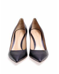 Gianvito Rossi | Blue Point Toe Leather Pumps | Lyst