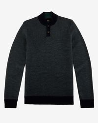 Ted Baker | Blue Stitch Detail Funnel Neck Top for Men | Lyst