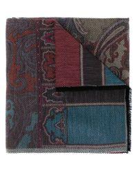 Etro - Multicolor Paisley Jacquard Scarf - Lyst