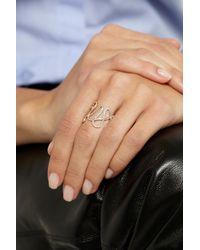 Repossi   Metallic White Noise 18-Karat Rose Gold Diamond Ring   Lyst