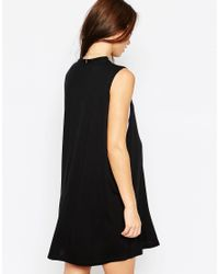 ASOS - Black T-shirt Dress With Drop Armhole - Lyst