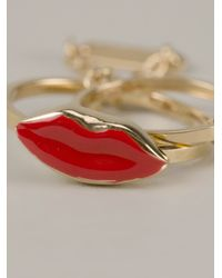 Delfina Delettrez | Red Two in One Double Ring | Lyst