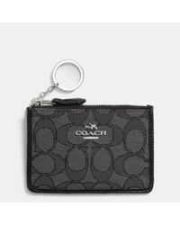 COACH | Gray Mini Skinny Id Case In Signature Jacquard | Lyst