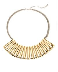 Catherine Stein | Metallic Two-Toned Bib Necklace | Lyst