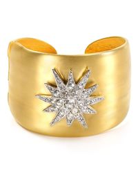 Kenneth Jay Lane | Metallic Star Cuff | Lyst