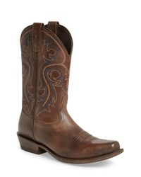 Ariat | Brown 'lawless Rustic' Cowboy Boot for Men | Lyst
