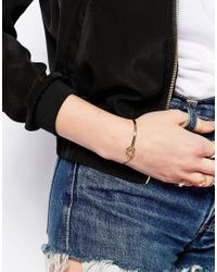 ASOS | Metallic Limited Edition Knot Cuff Bracelet | Lyst