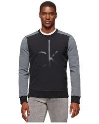 Calvin Klein Jeans | Gray Contrast Bonded-logo Sweatshirt for Men | Lyst