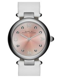 Marc Jacobs | Metallic 'dotty' Leather Strap Watch | Lyst