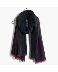 Madewell | Gray Houndstooth Patchwork Scarf | Lyst