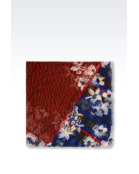 Armani Jeans | Blue Mixed Print Scarf | Lyst