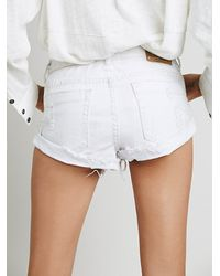 Free People - White Bandit Denim Cutoffs - Lyst