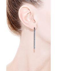 Yossi Harari - Black Lilah Stick Pave White Diamond Earrings - Lyst