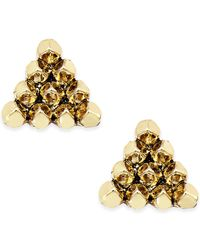 House of Harlow 1960 | Metallic Gold-tone Triangle Stud Earrings | Lyst