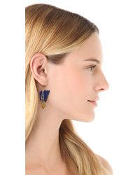 Gemma Redux - Blue Stone Earrings - Lyst