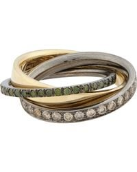 Roberto Marroni | Multicolor Mixed Diamond, Yellow Gold & Oxidized White Go | Lyst