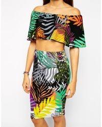 AX Paris | Multicolor Co-ord Set In Tropical Print | Lyst