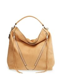 Rebecca Minkoff | Brown Moto Hobo Bag | Lyst