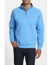 Cutter & Buck | Blue 'emery' Raglan End-on-end Half Zip Sweater for Men | Lyst