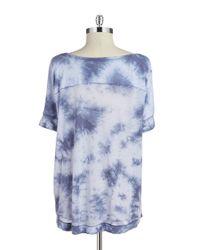 Calvin Klein | Blue Tie-Dyed Tee | Lyst