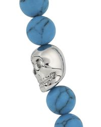 Simon Carter | Blue Turquoise Beaded Skull Bracelet for Men | Lyst