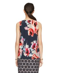 Kate Spade | Blue Hazy Floral Sleeveless Top | Lyst