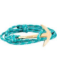 Miansai - Blue Anchor On Rope Bracelet for Men - Lyst