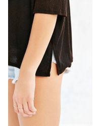 Project Social T - Black Washed-away Dolman Top - Lyst