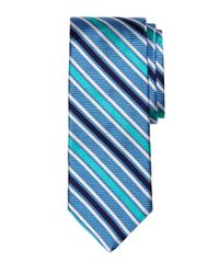 Brooks Brothers - Blue Framed Stripe Tie for Men - Lyst