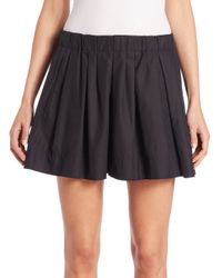Marc Jacobs | Black Pleated Cotton Poplin Shorts | Lyst