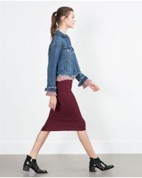 Zara | Purple Asymmetric Skirt | Lyst