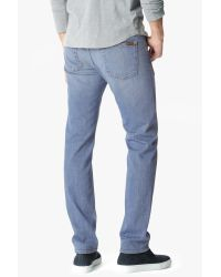 7 For All Mankind - Blue Standard Classic Straight With Clean Pocket In High Tides for Men - Lyst