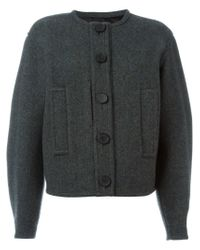 Lemaire - Gray Lambswool and Cotton-Blend Bomber Jacket  - Lyst