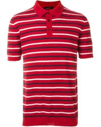 Roberto Collina | Red Terry Towelling Polo Shirt for Men | Lyst