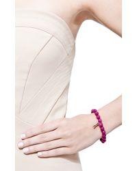 Sydney Evan | Pink Black Diamond Arrow Charm Beaded Bracelet | Lyst