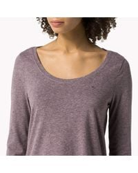 Tommy Hilfiger | Purple Cotton Triblend T-shirt | Lyst