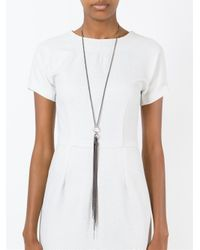 Ann Demeulemeester Blanche | Metallic Chain Tassel Pendant Necklace | Lyst