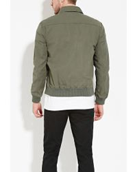 Forever 21 - Green Cotton Utility Jacket You've Been Added To The Waitlist for Men - Lyst